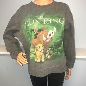 Disney women's large lion king gray sweatshirt
